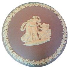 Vintage Wedgwood Lilac Jasperware Jewelry Trinket Powder Box