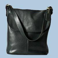 Vtg. Coach Whitney Black Leather Shoulder Handbag Purse
