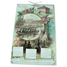 1898 Berkshire Insurance Calendar Historical American Battle, Indian & Building Scenes