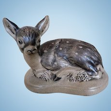 Vintage Signed Poole English Pottery Fawn Deer