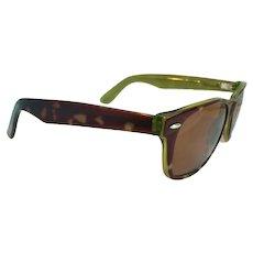 Vintage Retro Aztec AZ 702 Eyeglass/Sunglass Frames 145MM Tortoise/Green