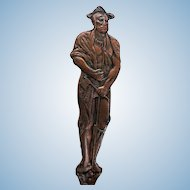 Vintage Full Figure Native American Indian & Miner Double Sided Bronze / Copper Figural Souvenir Spoon
