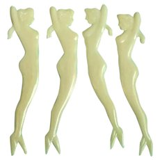 1930's - 40s Naked Mermaid Hors D'Oeuvres Picks
