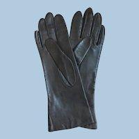 Vintage NORDSTROM Dk. Brown Kid Leather Gloves NEVER WORN!  Sz. 6.5