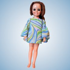 1969 Ideal Crissy / Chrissy Growing Hair Doll in Period Mod Dress