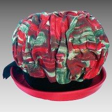 Vintage 1960's Rouched Ladies Bubble Hat