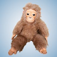 "15"" Vintage 1977 R. Dakin Co. Golden Brown Monkey Gorilla Stuffed Animal Plush Toy"