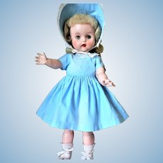 1950's Horsman Pretty Blonde Ruthie Doll 17.5""