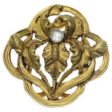 Rare Art Noveau Antique Gilt Filigree Jewellery Box Erhard & Sohne C1910 Key Jewelry Boxes & Organizers
