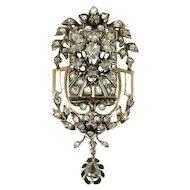 Victorian rose cut diamond pendant
