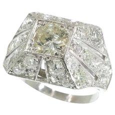 Sparkling Art Deco 3.78 Carat Diamond Cocktail Engagement Ring, 1930s - FREE Resizing*