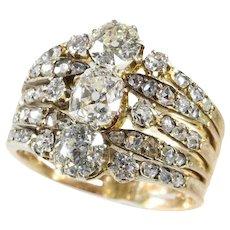 Astounding Victorian diamond ring