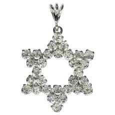 Star of David gold pendant full with diamonds - anno 1950