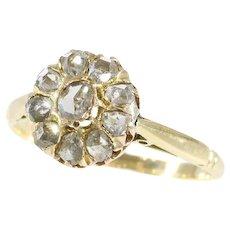 Victorian rose cut diamonds ring