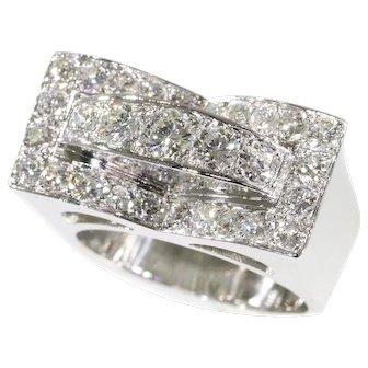 Vintage Retro Fifties platinum diamond ring