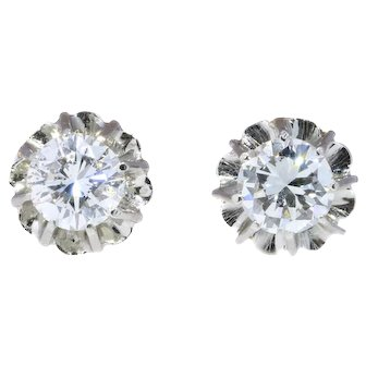 Vintage Art Deco diamond earstuds