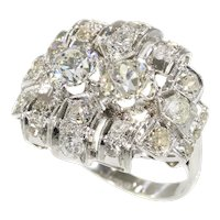 Strong Design Art Deco Platinum Diamond '2.50 Carat' Engagement Ring, 1920s