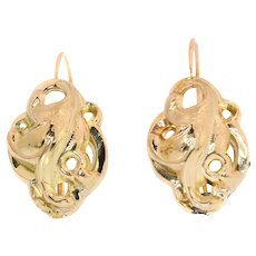 Victorian 18K gold earrings - anno 1860