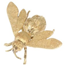 Vintage Fifites 18K gold bee pin/brooch