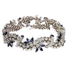 Vintage diamond and sapphire bracelet - ca. 1970