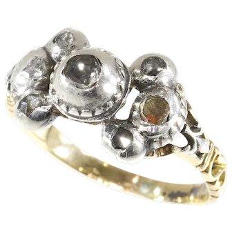 Antique Baroque/Rococo diamond ring - anno 1700