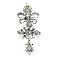 High Quality 18th Century Baroque Diamond Cross, 1700s