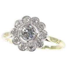 Vintage Diamond Engagement Ring, 1950s