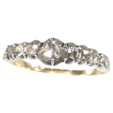 19th Century Georgian Diamond Inline Engagement Ring, 1820s