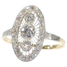 Vintage Art Deco Edwardian Diamond Engagement Ring, 1930s