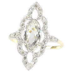 Most Charming Belle Epoque Diamond Engagement Ring, 1900s - FREE Resizing*