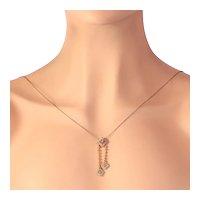Art Deco Edwardian Gold Diamond Necklace, 1910s