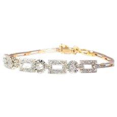 Vintage Art Deco Diamond Bracelet, 1930s