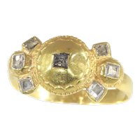 17th Century Antique Baroque Diamond 18 Karat Gold Engagement Ring, 1680s - FREE Resizing*