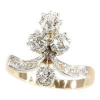 Lovely Vintage Belle Epoque Diamond Engagement Ring, 1900s - FREE Resizing*