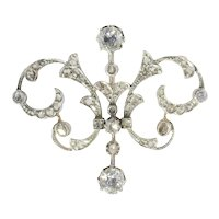 Victorian Diamond Double Purpose Jewel Can Be Worn As Pendant or Brooch, 1900s