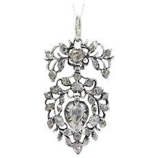 Antique Rococo Flemish Diamond Heart Pendant, 1700s