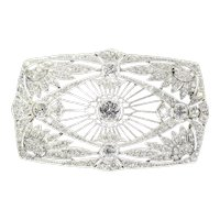 Vintage Art Deco Diamond Brooch Set with 5.33 Carat Total Diamond Weight, 1920s
