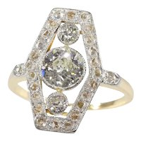 Vintage Diamond Engagement Ring from the Belle Epoque Era, 1910s - FREE Resizing*