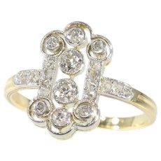 Vintage Diamond Art Deco Engagement Ring, 1920s - FREE Resizing*