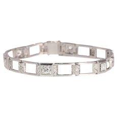 Vintage Art Deco Diamond Platinum Bracelet, 1920s