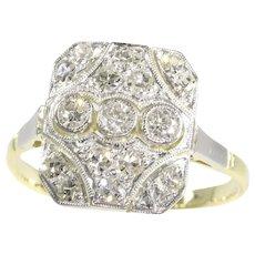 Vintage Art Deco diamond engagement ring