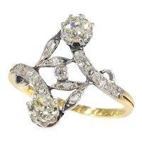 Vintage Belle Epoque Diamond Toi et Moi Engagement Ring, 1909s - FREE Resizing*