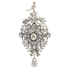 Antique Victorian multi-use diamond jewel can be worn as ring, pendant or brooch
