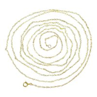 French antique Victorian fine gold long necklace with 277 drilled fine natural seed pearls