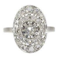 French Vintage Art Deco diamond engagement ring