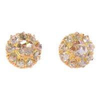 Victorian rose cut diamond earstuds