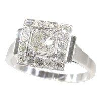 Vintage Fifties diamond Art Deco engagement ring