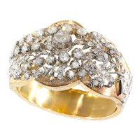 Vintage Fifties antique style diamond gold bangle