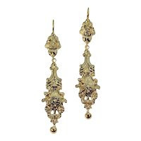 Victorian Gold Dangle Earrings ca.1870