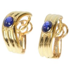 Boucheron Gold and Sapphire Clip On Earrings ca.1980
